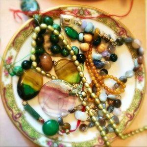 Semi precious stones.
